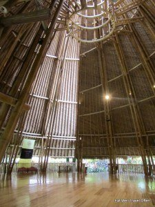 Amazing bamboo yoga hall