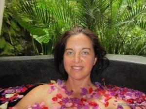Enjoying my flower bath