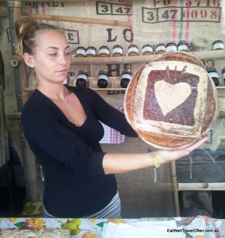 Everything is made with love - this is the yummy sourdough bread I feasted on each morning