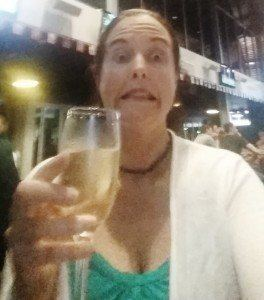 Celebrating with a glass of bubbly...brave or crazy, who knows, but it feels right for now yay!