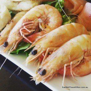 Famous Yamba prawns - yum!