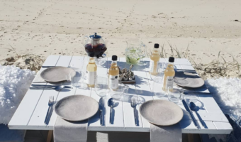 An elegant picnic on the beach